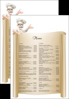 modele affiche metiers de la cuisine menu restaurant restaurant francais MLGI26185