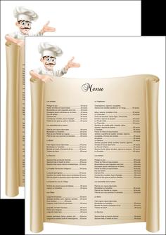 creer modele en ligne affiche metiers de la cuisine menu restaurant restaurant francais MLGI26187