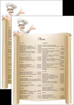 realiser flyers metiers de la cuisine menu restaurant restaurant francais MLGI26189