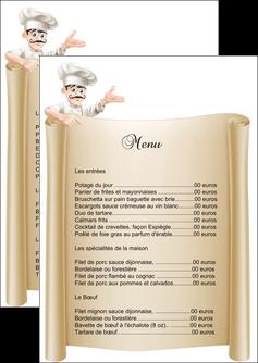 faire flyers metiers de la cuisine menu restaurant restaurant francais MLGI26191