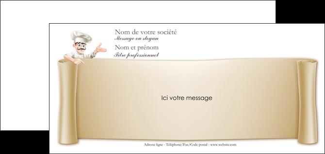 Populaire Carte de correspondance modèle et exemple menu, restaurant  XD83