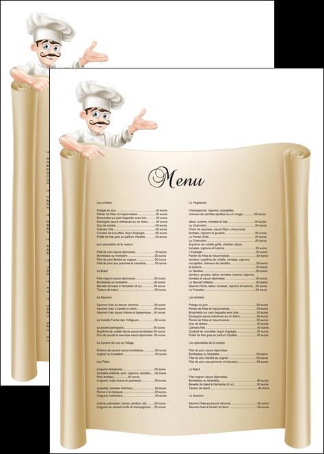 Affiche mod le et exemple menu restaurant restaurant for Affiche pour cuisine