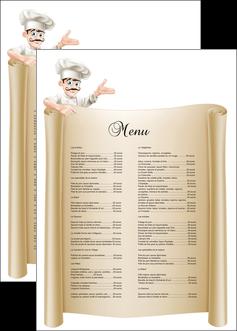 imprimer affiche metiers de la cuisine menu restaurant restaurant francais MLGI26199