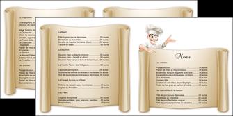 imprimer depliant 2 volets  4 pages  metiers de la cuisine menu restaurant restaurant francais MLGI26205