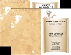 impression carte de visite metiers de la cuisine menu restaurant restaurant francais MLGI26207