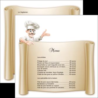 exemple flyers metiers de la cuisine menu restaurant restaurant francais MLGI26209