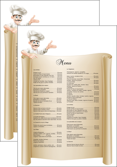 imprimer affiche metiers de la cuisine menu restaurant restaurant francais MLGI26211