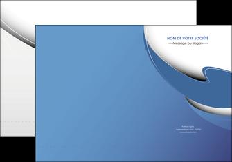 exemple pochette a rabat ure en  bleu pastel courbes fluides MIF26221