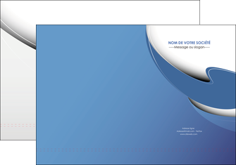 exemple pochette a rabat ure en  bleu pastel courbes fluides MIF26223