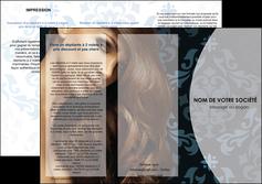 maquette en ligne a personnaliser depliant 3 volets  6 pages  centre esthetique  coiffure salon de coiffure beaute MLGI26287