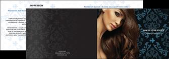 maquette en ligne a personnaliser depliant 2 volets  4 pages  centre esthetique  coiffure salon de coiffure beaute MLGI26301