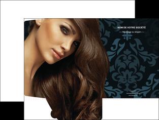 personnaliser maquette pochette a rabat centre esthetique  coiffure salon de coiffure beaute MLGI26305