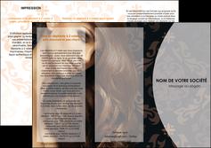 imprimer depliant 3 volets  6 pages  centre esthetique  coiffure coiffeur coiffeuse MLGI26309