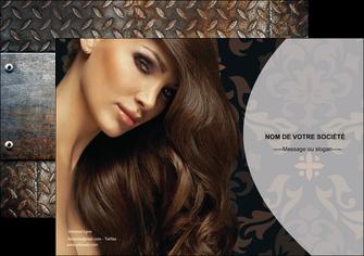 creation graphique en ligne affiche centre esthetique  coiffure coiffeur coiffeuse MLGI26313