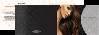 creation graphique en ligne depliant 2 volets  4 pages  centre esthetique  coiffure coiffeur coiffeuse MLGI26323