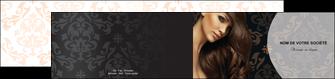 personnaliser maquette depliant 2 volets  4 pages  centre esthetique  coiffure coiffeur coiffeuse MLGI26325