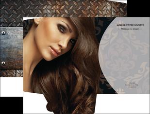 imprimerie pochette a rabat centre esthetique  coiffure coiffeur coiffeuse MLGI26329