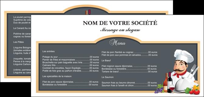 cree flyers metiers de la cuisine menu restaurant restaurant francais MLGI26405