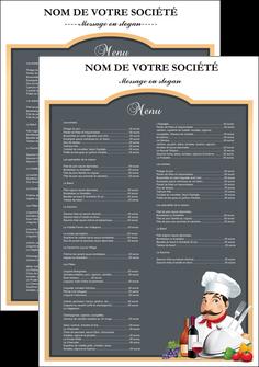 cree affiche metiers de la cuisine menu restaurant restaurant francais MLGI26409