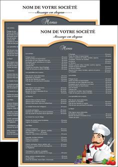 faire modele a imprimer flyers metiers de la cuisine menu restaurant restaurant francais MLGI26411
