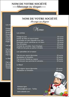 realiser flyers metiers de la cuisine menu restaurant restaurant francais MIF26413