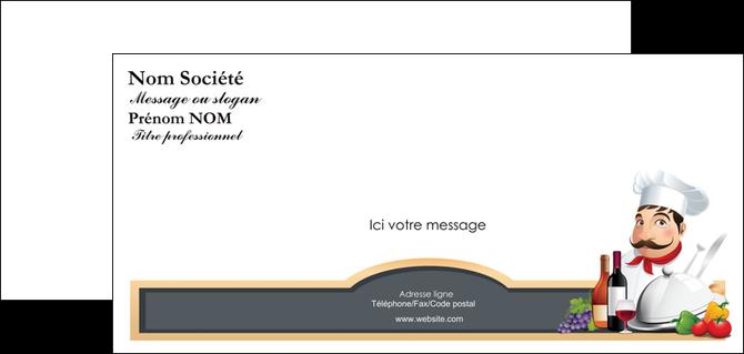 creer modele en ligne carte de correspondance metiers de la cuisine menu restaurant restaurant francais MLGI26415