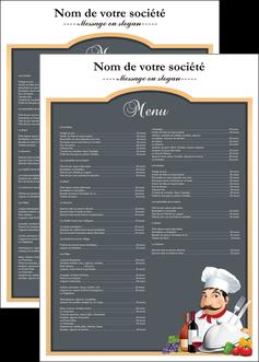 cree affiche metiers de la cuisine menu restaurant restaurant francais MLGI26421