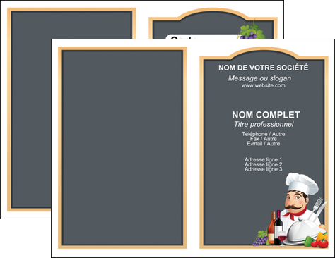 faire carte de visite metiers de la cuisine menu restaurant restaurant francais MIF26429
