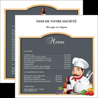 modele flyers metiers de la cuisine menu restaurant restaurant francais MLGI26431