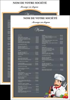 exemple affiche metiers de la cuisine menu restaurant restaurant francais MLGI26433