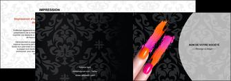 maquette en ligne a personnaliser depliant 2 volets  4 pages  cosmetique beaute ongles beaute des ongles MLGI26523