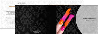 exemple depliant 2 volets  4 pages  cosmetique beaute ongles beaute des ongles MLGI26525