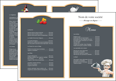 realiser depliant 2 volets  4 pages  metiers de la cuisine c MLGI26553