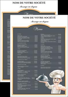creation graphique en ligne affiche metiers de la cuisine c MLGI26561