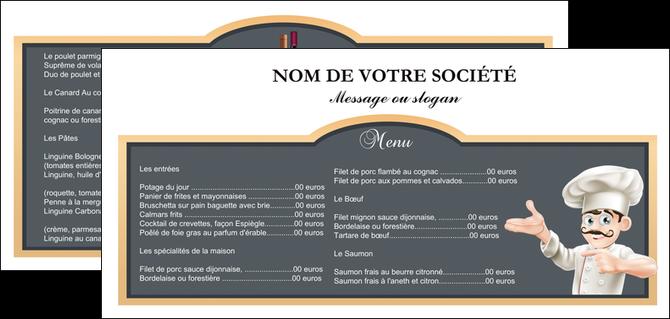 Flyers modèle et exemple menu, restaurant, restaurant français