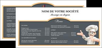 personnaliser maquette flyers metiers de la cuisine menu restaurant restaurant francais MLGI26617