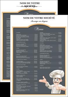 imprimerie affiche metiers de la cuisine menu restaurant restaurant francais MLGI26619
