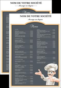 imprimerie affiche metiers de la cuisine menu restaurant restaurant francais MLGI26621