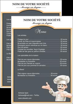creer modele en ligne flyers metiers de la cuisine menu restaurant restaurant francais MLGI26625
