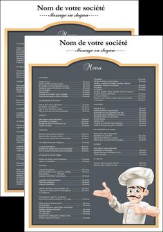 realiser affiche metiers de la cuisine menu restaurant restaurant francais MLGI26631