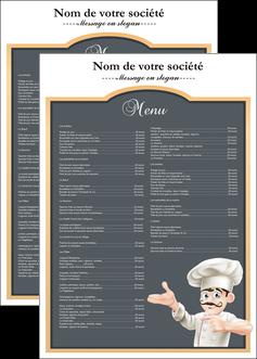 realiser affiche metiers de la cuisine menu restaurant restaurant francais MLGI26633