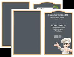 personnaliser modele de carte de visite metiers de la cuisine menu restaurant restaurant francais MLGI26641