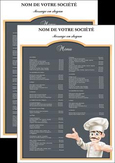 modele en ligne affiche metiers de la cuisine menu restaurant restaurant francais MLGI26645