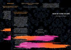 maquette en ligne a personnaliser depliant 3 volets  6 pages  cosmetique mode beaute salon MIF26665