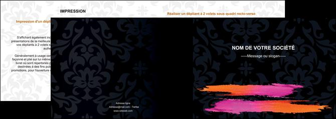 modele depliant 2 volets  4 pages  cosmetique mode beaute salon MLGI26679