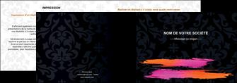 modele depliant 2 volets  4 pages  cosmetique mode beaute salon MIF26679