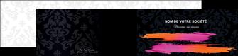 creation graphique en ligne depliant 2 volets  4 pages  cosmetique mode beaute salon MIF26681