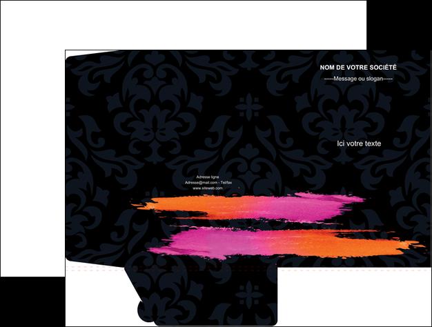 creation graphique en ligne pochette a rabat cosmetique mode beaute salon MLGI26683