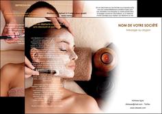 imprimerie depliant 3 volets  6 pages  centre esthetique  masque masque du visage soin du visage MLGI26841