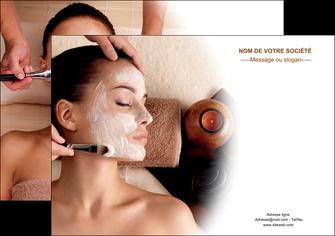 personnaliser maquette affiche centre esthetique  masque masque du visage soin du visage MLGI26847